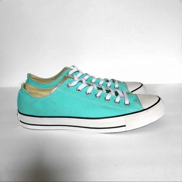 827cb1acb72816 Converse Shoes - NWOT Converse Light Aqua Low Top Chucks